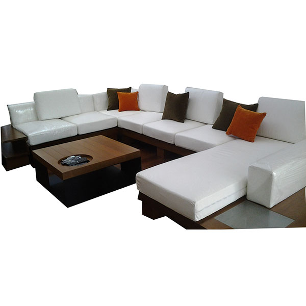 Fabric Long Sofa